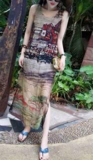Šifoninė retro stiliaus suknelė