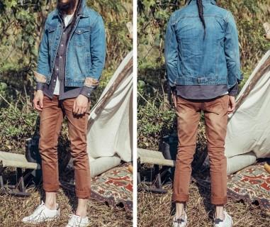 Stilingas džinsinis švarkelis vyrams