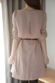 Stilinga suknelė su dirželiu