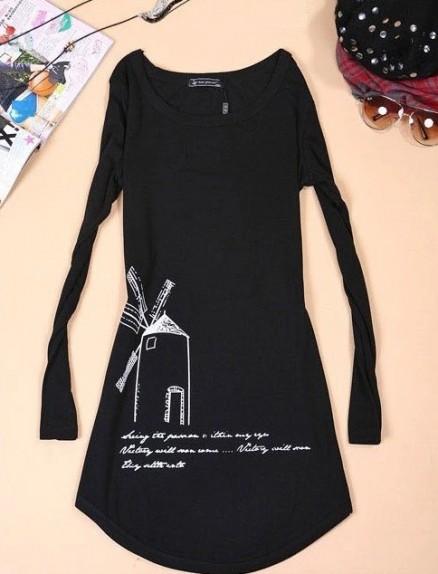 Ilgi medvilniniai marškinėliai