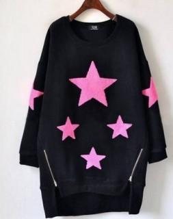 Megztukas dekoruotas žvaigždėmis