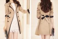 Pavasarinis paltas su dailia apykakle