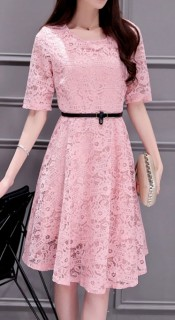 Puošni vasarinė suknelė