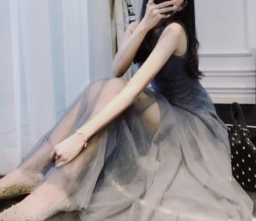 Ilga peršviečiama suknelė