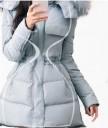Išryškinantis liemenį moteriškas paltas