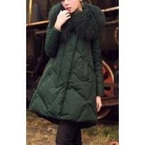 Elegantiškas paltukas su kailiu