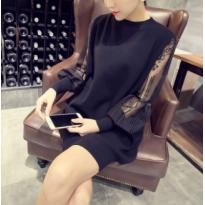 Elegantiška suknelė pūstomis rankovėmis